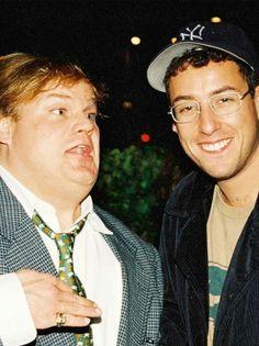 Chris Farley and Adam Sandler in 1994