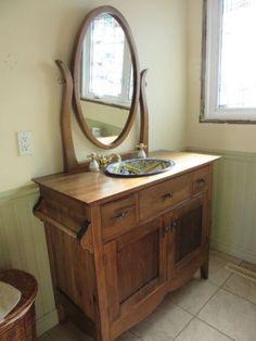 Vessel Sink Bathroom, Vanity, Furniture, Home Decor, Dressing Tables, Powder Room, Decoration Home, Room Decor, Vanity Set
