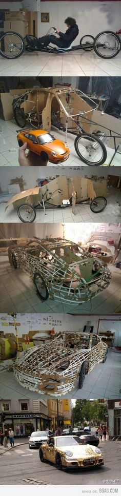 Homemade Car. bicycle car.