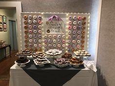 Custom built wedding donut wall