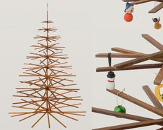 This would be a fun/cute craft for kids to make with Popsicle sticks, and then each day make a little ornament to hang on it, each day until Christmas!!