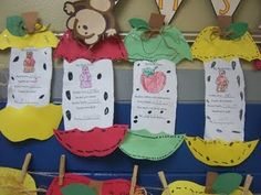 torn paper apple poem activity