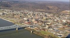 Ironton, OH : Aerial Photo of Downtown Ironton