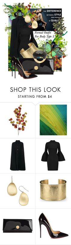"""Formal/Black Tie Optional Outfit For Body Type S"" by mariahelena-loik ❤ liked on Polyvore featuring Bodas, Valentino, Milly, Marco Bicego, Blue Nile, Jimmy Choo and Christian Louboutin"