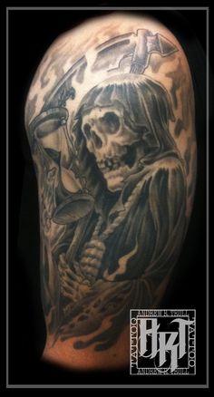 Andrew R Trull/ custom tattoo artist Neo Traditional, Custom Tattoo, Future Tattoos, I Tattoo, Tattoo Artists, Fashion Art, Gray, Black, Design