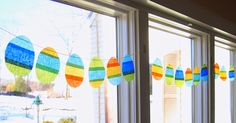 Crepe Paper Easter Egg Garland from The Tiny Funnel