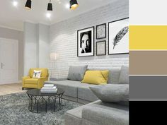 Are You Ready For Living Room Makeover? - Interior Decor and Designing Grey And Yellow Living Room, Dark Living Rooms, Cottage Living Rooms, Home Living Room, Rental Home Decor, Home Decor Bedroom, Living Room Color Schemes, Paint Colors For Living Room, Home Room Design