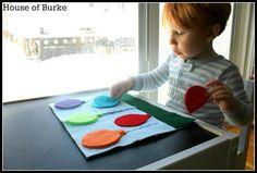 House of Burke: Color Sorting Balloon Felt Board