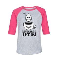 Prepare To Dye Youth Raglan