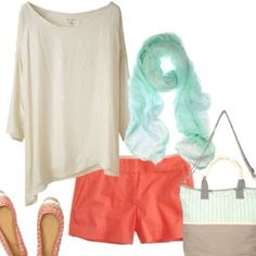 Love aqua and coral together :)
