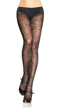 Want to lure men with your witchy ways? These spiderweb lace pantyhose will do the trick. One size fits most. 100% nylon. Fits 90-160 lbs.