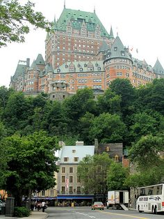 I have been here.  It is amazing, and they had the most incredible spring display of live rabbits and lovely birds in the lobby.  Chateau Frontenac, Quebec