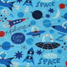 0,5m Space, Baumwollstoff, Kokka