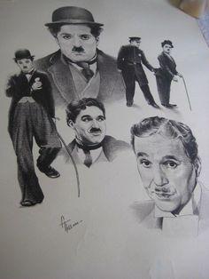 Vintage Charlie Chaplin Poster Signed FTillman 1978 AppleArtsOriginal Rare Print