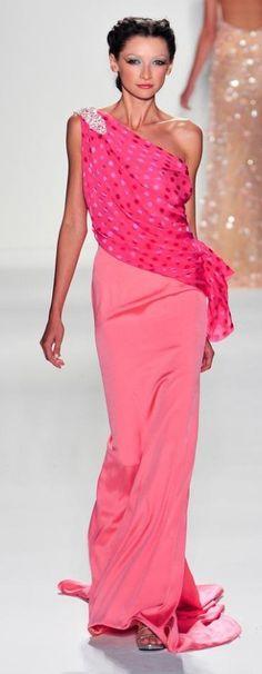 Venexiana Spring 2014 Collection - pink silk evening dress