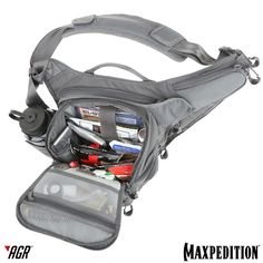 The WOLFSPUR™ crossbody bag can be used to store gear for short hikes. #AGR #AdvancedGearResearch www.Maxpedition.com