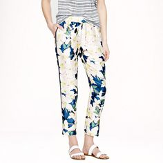 { track pants in cove floral }