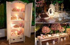 decoração vintage casamento - Pesquisa Google                                                                                                                                                     Mais