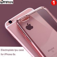 Luxury New product Electroplating tpu phone Case For Apple iphone 6 5.5 inch Back Cover case