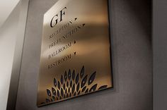 Fairmont Jakarta room signage created by HBA Graphics