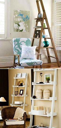 Old ladder DIY decoration ideas Diy Interior, Interior Decorating, Interior Design, Diy Ladder, Do It Yourself Crafts, Deco Furniture, Diy Decoration, Decorating Your Home, Diy Design