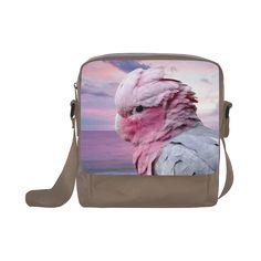 Galah Cockatoo Crossbody Nylon Bag. FREE Shipping. #artsadd #bags #parrots