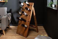 Stojan na fľaše na zem z masívneho dreva 107cm. Bar Noir, Wine Rack, Decoration, Storage, Interior, Furniture, Vintage, Home Decor, Environment