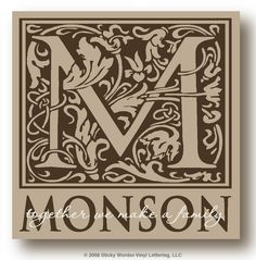 Classy Monogram. Makes a great wedding or anniversary gift.
