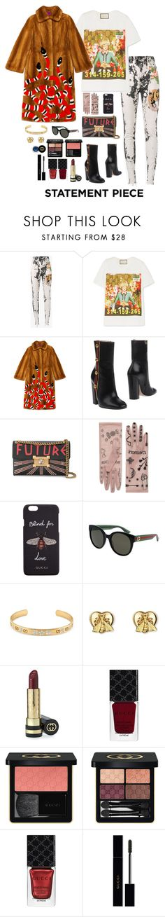 """""""Untitled #104"""" by paper-tears ❤ liked on Polyvore featuring Gucci and statementcoats"""
