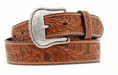 Nocona Genuine Leather Belt Embossed leather detailing Buckle is removable inches wide Style: Color: Tan Belt Size Guide Tip: Usually buy 2 inches up from your jean size. For example if you wear size 34 jeans purchase a 36 belt. Leather Buckle, Leather Belts, Leather Tooling, Leather Men, Men's Belts, Tooled Leather, Brown Leather, Nocona Belt, Work Belt