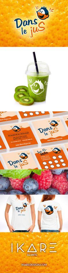 Dans le jus - Image de marque par IKARE DA.MKTG