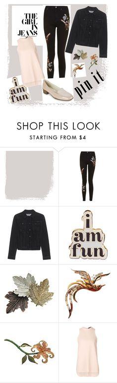"""sweet look"" by noviandri-ronal ❤ liked on Polyvore featuring Topshop, Calvin Klein Jeans, ban.do, Chicnova Fashion, Trifari, Bob Mackie, Alexander Wang and Anne Klein"