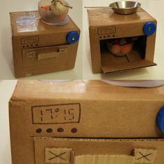 La gourmandise : cuisine en carton pour jouer à la dinette