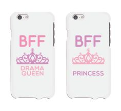 Cute Best Friend Phone Cases - Drama Queen and Princess Phone Covers for iphone 4, iphone 5, iphone 5C, iphone 6, iphone 6 plus, Galaxy S3, Galaxy S4, Galaxy S5, HTC M8, LG G3: Cell Phones & Accessories