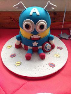 Captain America Minion Cake