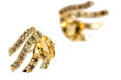 Brinco Trillion Citrino #joia #ouro #diamante #diamond #jewelry #gold #citrino #citrine #anel #ring #fashion #design #chic #jewelryporn #modern