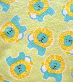 Snuggle Flannel Fabric- Little Lion