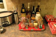 Hot Chocolate Bar - Crock Pot recipe with more vanilla, more cream, some adult extras