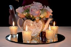 This is just what I'm thinking of for the tables for our afternoon tea reception #Crafty #Centrepiece #Wedding