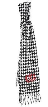 $24 Monogrammed Houndstooth Scarf! Great for your favorite Alabama fan! Roll Tide Roll!