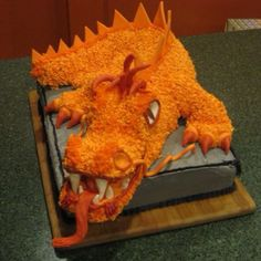 Dragon cake -it's made of rice krispies