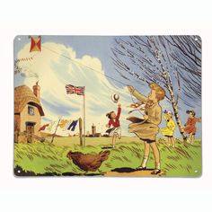 windy weather painting - Google Search Weathered Paint, Go Fly A Kite, Windy Weather, Vintage Children, The Dreamers, Whimsical, Balloons, Kites, Swings