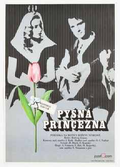 Vintage Movie Poster - Proud Princess – designed by poster designer/artist Dobroslav Foll, Czechoslovakia, 1973. price: £62.00 #DobroslavFoll #MoviePosters #PosterArt #KidsPosters #MinimalistMoviePosters #70sMoviePosters #VintageMoviePosters | jozefsquare.com