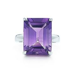 Tiffany Sparklers amethyst cocktail ring in sterling silver.