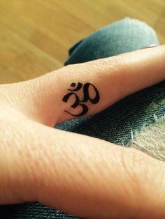 Temporary Tattoo | OM Sign | Yoga Tattoo Art | Yoga Tattoo | Finger Tattoo | Fun…
