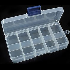 NEW10 Small Compartment  Storage Cases Box for Nail Art Tips Jewelry holder C1AZ