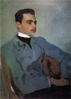 Valentin Serov (Russian 1865–1911) [Impressionism, Realism, Peredvizhniki, Portraits] Portrait of Count Nikolay Sumarokov-Elstone, 1903.  Russian Museum, St. Petersburg, Russia.