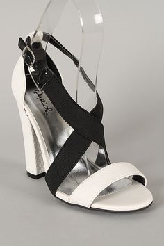 Qupid Immoral-05 Criss Cross Open Toe Heel