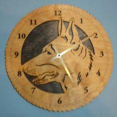 "12"" German Shepherd Dog Wall Clock"
