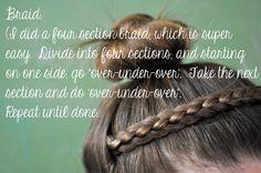 Ducklings In A Row - Hair + DIY Tutorials: Heidi Braid #1 - The Disappearing Heidi Braid Tutorial
